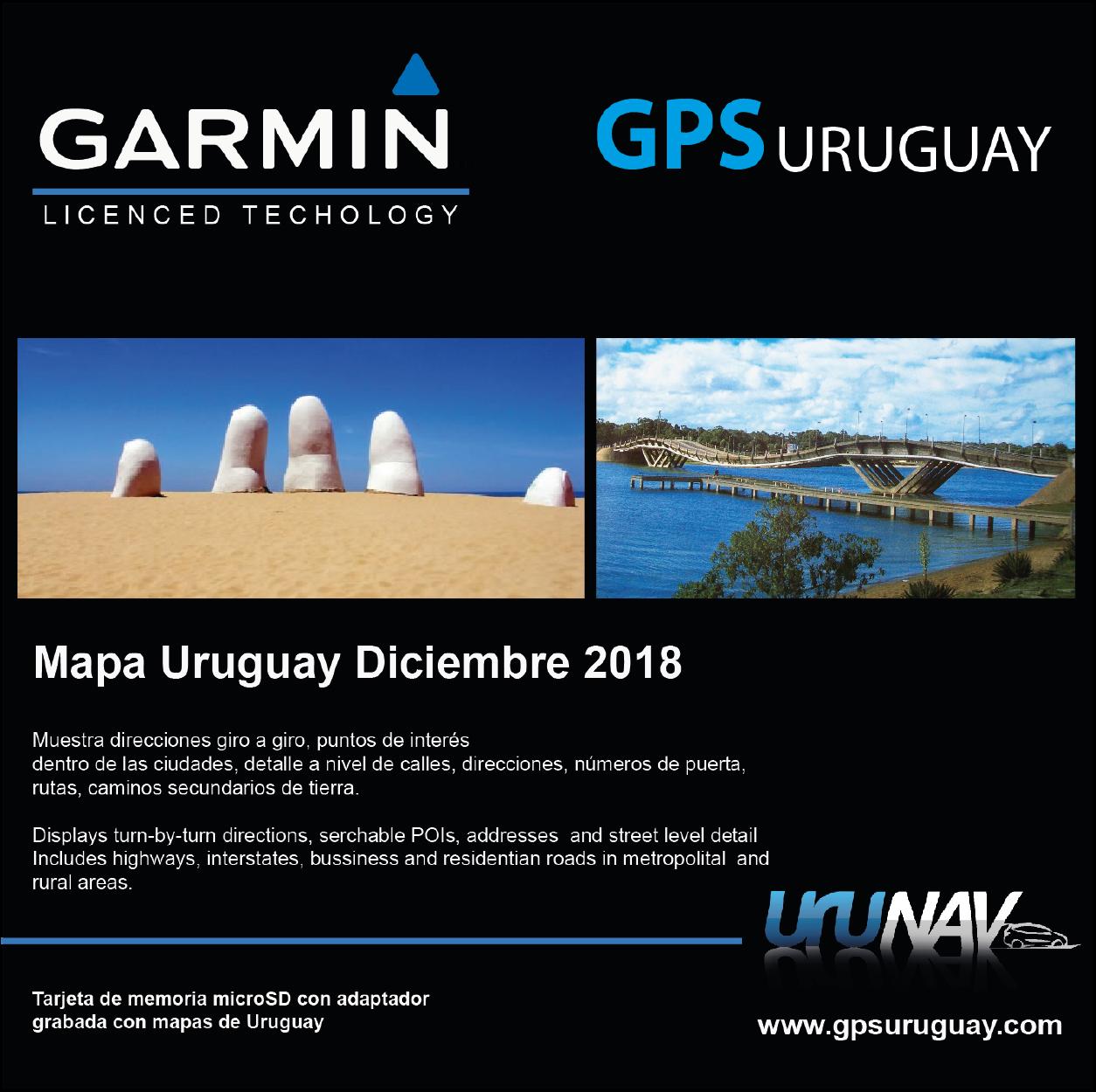 Urunav Mapa Uruguay